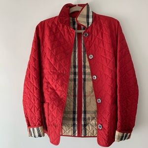 Burberry Red Quilted Puffer